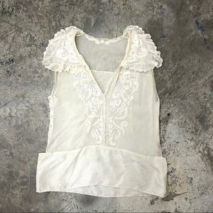 See By Chloe Silk Top White Cream Floral 4